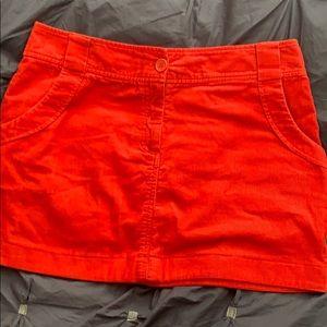 Bright Red Corduroy Mini Skirt!